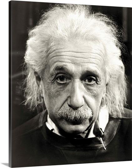 Einstein Biggest Mistakes In Physics: Albert Einstein Photo Canvas Print