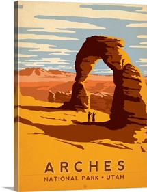 Arches National Park, Utah - Retro Travel Poster