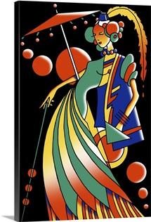 Art Deco Lady IV