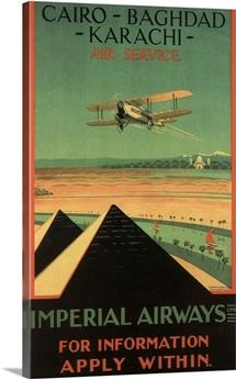 Cairo - Vintage Travel Advertisement