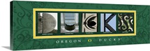Ducks - University of Oregon Campus Letters