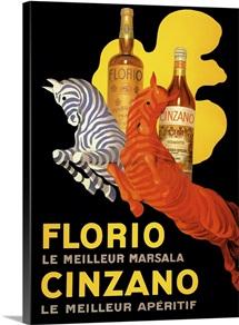 Florio Cinzano - Vintage Liquor Advertisement