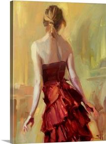 Girl in A Copper Dress I
