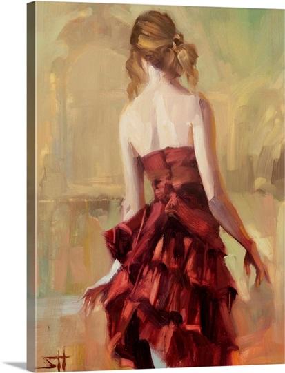 Girl in A Copper Dress II