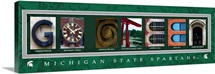 Go Green - Michigan State University Campus Letters