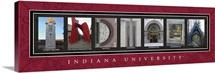 Indiana - Indiana University Campus Letters