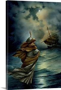 Jesus Walking On Water Photo Canvas Print Great Big Canvas