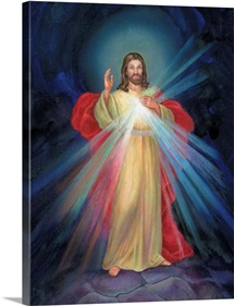Jesus with light coming from his chest