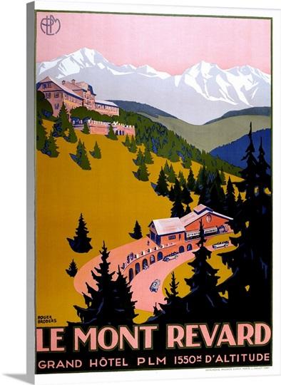 Le mont revard photo canvas print great big canvas for Mont revard