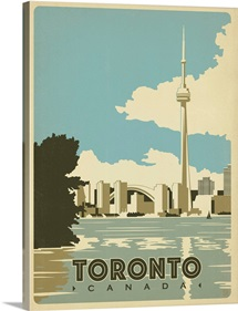 The CN Tower, Toronto, Canada - Retro Travel Poster