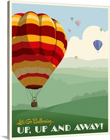 Up, Up and Away - Retro Poster