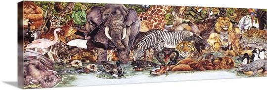 wild animal collage photo canvas print great big canvas