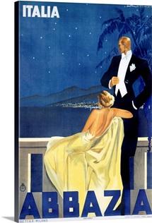 Abbazia, Italia, Vintage Poster, by W. Zalina