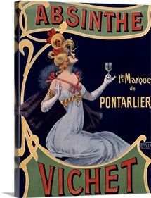 Absinthe Vichet, Vintage Poster, by Nover