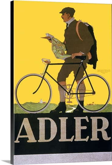Adler, Bicycle,Vintage Poster