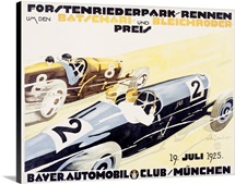 Bayer Auto Club Roadster,Vintage Poster, by Julius U. Engelhard