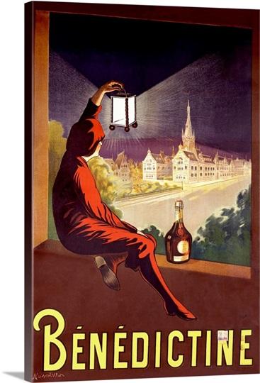 Benedictine, Vintage Poster, by Leonetto Cappiello