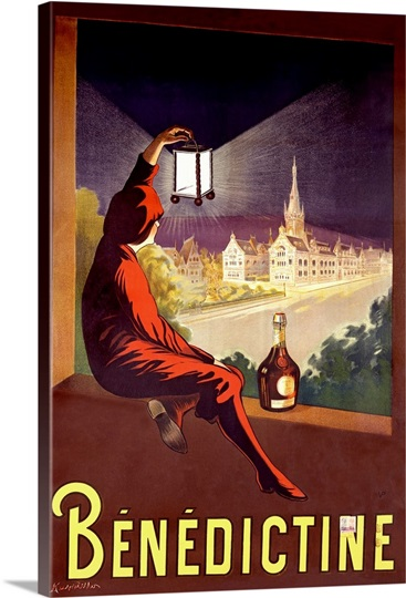 Benedictine,Vintage Poster, by Leonetto Cappiello