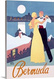 Bermuda,Vintage Poster, by Adolph Treidler