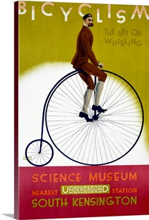 Bicyclism, The Art of Wheeling,Vintage Poster