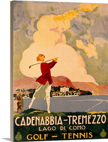 Cadenabbia Tremezzo, Golf and Tennis, Vintage Poster