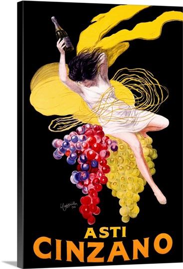 Cinzano Asti Aperitif Wine Vintage Advertising Poster ...