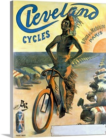 Cleveland Cycles,Vintage Poster, by Jean de Paleologue