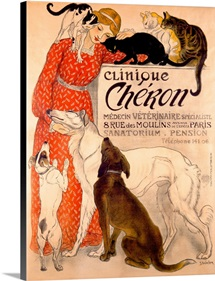 Clinique Cheron, Vintage Poster, by Theophile Alexandre Steinlen