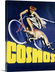 Cosmos Greyhound Bicycle,Vintage Poster