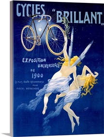 Cycles Brilliant,Vintage Poster, by Henri Gray