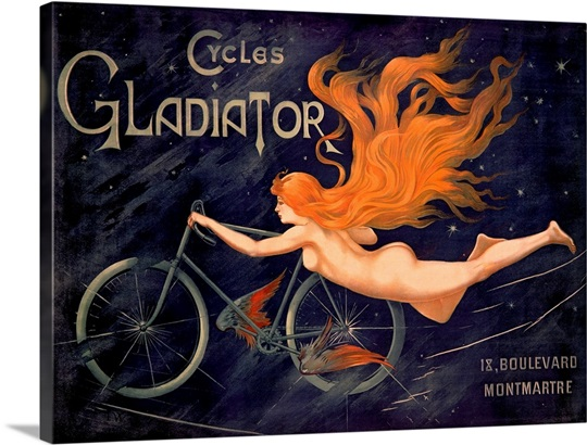 Cycles Gladiator by Georges Massias,Vintage Poster