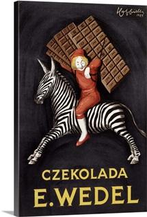 Czekolada E. Wedel,Vintage Poster, by Leonetto Cappiello