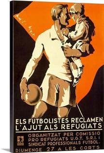 Els Futbolistes Reclamen,Vintage Poster