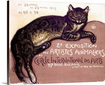 Exposition, Artistes Animaliers, Vintage Poster, by Theophile Alexandre Steinlen