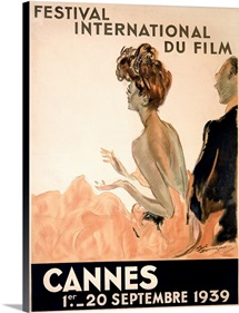 Festival International du Film, Cannes,Vintage Poster, by Jean Gabriel Domergue
