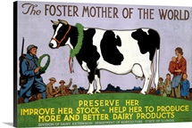 Foster Mother of the World,Vintage Poster, by Richard Fayerweather Babcock