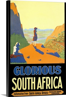 Glorious South Africa, Vintage Poster, by H.C. Lindsell