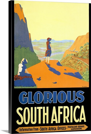 Glorious South Africa,Vintage Poster, by H.C. Lindsell