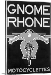 Gnome Rhone, Motocyclettes,Vintage Poster