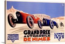 Grand Prix de Nimes, 1932, Vintage Poster