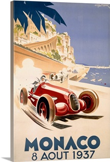 Grand Prix, Monaco, 1937,Vintage Poster, by Geo Ham