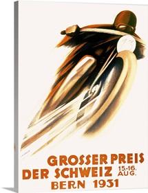 Grosser Preis Der Schweiz, 1931,Vintage Poster, by Ernst Ruprecht