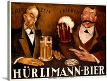 Hurlimann Bier,Vintage Poster