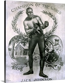 Jack Johnson, Heavyweight Champion of the World,Vintage Poster