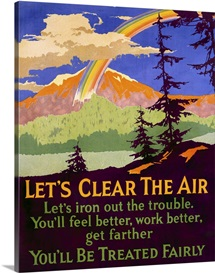 Lets Clear the Air, motivational,Vintage Poster