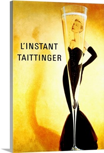 LInstant Taittinger,Vintage Poster