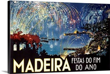 Madeira, Festas do Fim Do Ano,Vintage Poster
