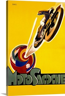 Moto Sacoche,Vintage Poster, by Marcello Nizzoli