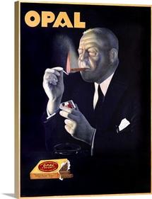 Opal, cigars,Vintage Poster