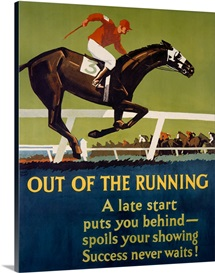 Out of the Running,Vintage Poster, by Frank Mather Beatty